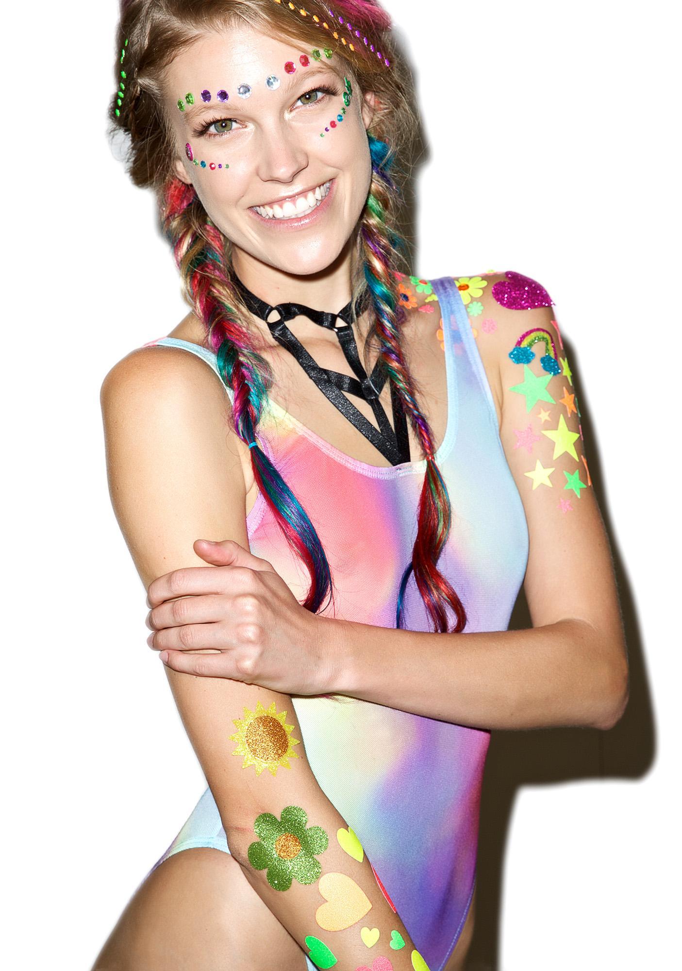 Wicked Hippie Warm Vibes Glitter Tattoo Stickers