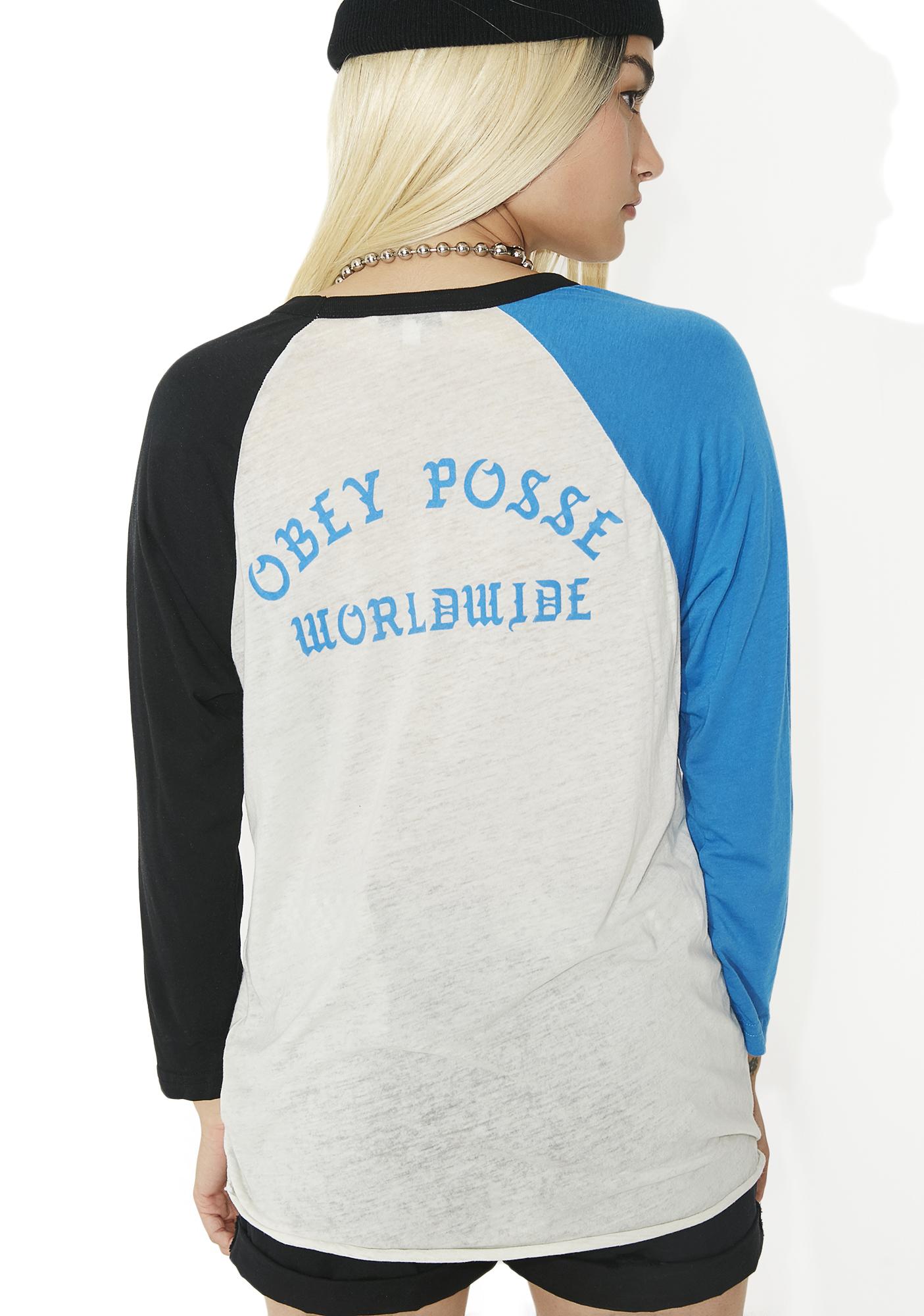 Obey Posse Worldwide Sold Out Raglan Tee