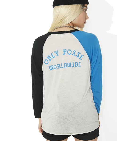 Obey Posse Worldwide Sold Out Raglan Tee