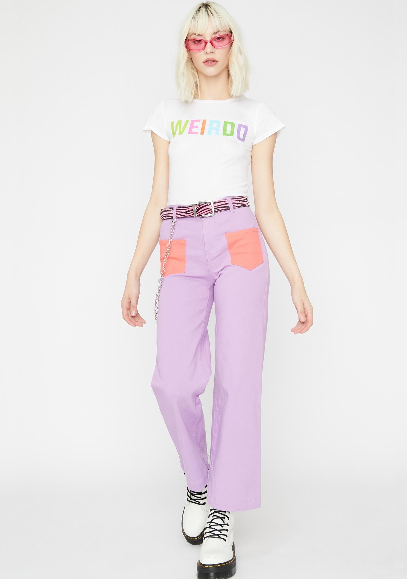Weirdo Gang Cropped Tee