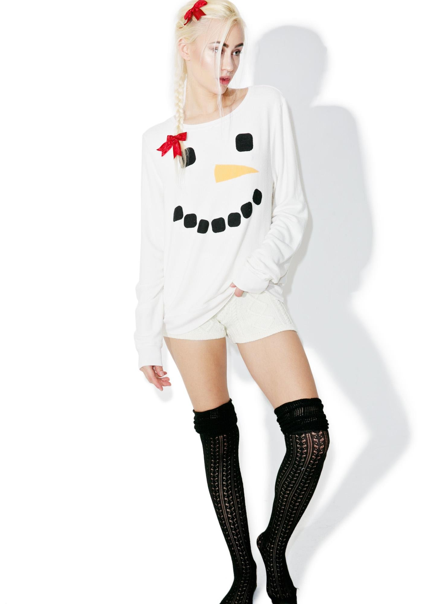 Wildfox Couture Frosty Face Baggy Beach Jumper
