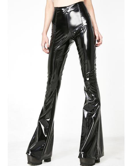 PVC Flare Pants