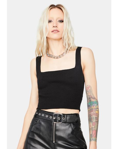 Noir Take Ur Pick Square Neck Crop Tank