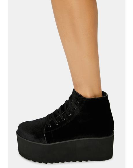 Velour Barletta Platform Sneaker