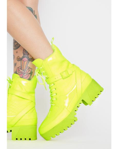 Energy Boost Lace Up Boots
