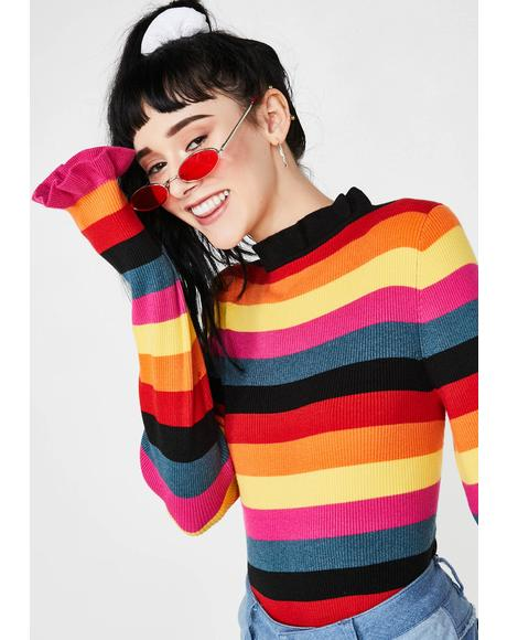 Forbidden Girlfriend Stripe Jumper