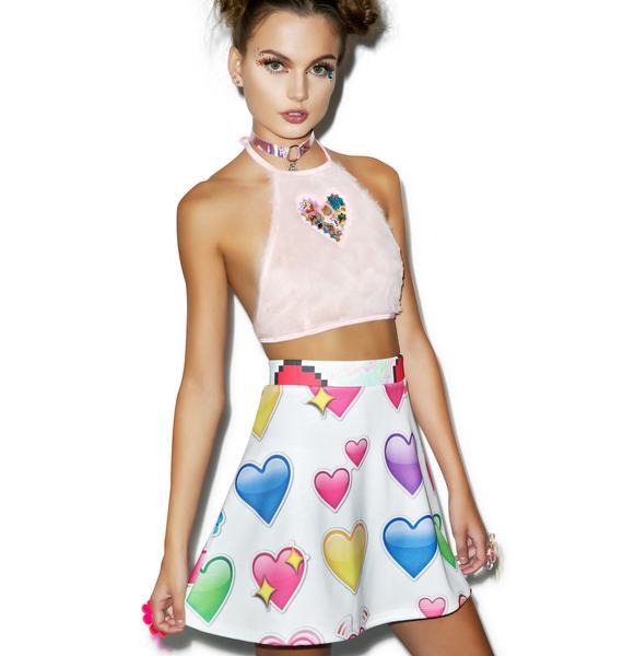 Emoji Heartz Skirt