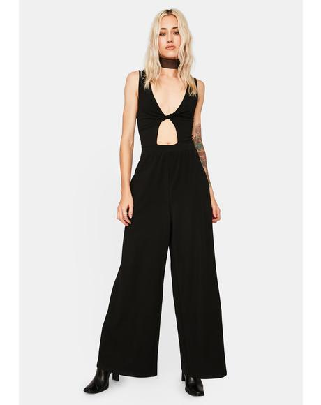 Twist Wide Leg Jumpsuit
