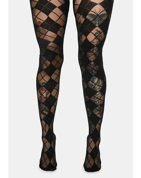 Beautiful Life Argyle Tights