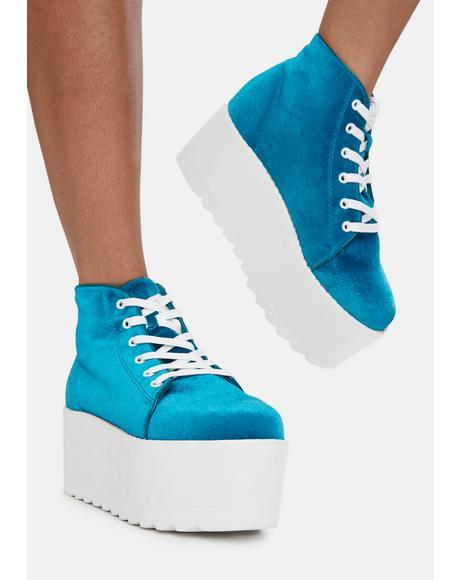 Blue Barletta Platform Sneaker