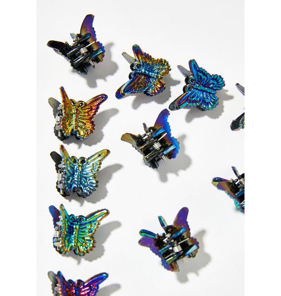 The Cobra Snake Metallic Butterfly Clips
