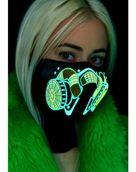 Apoca-Lit Sound Reactive Dust Mask