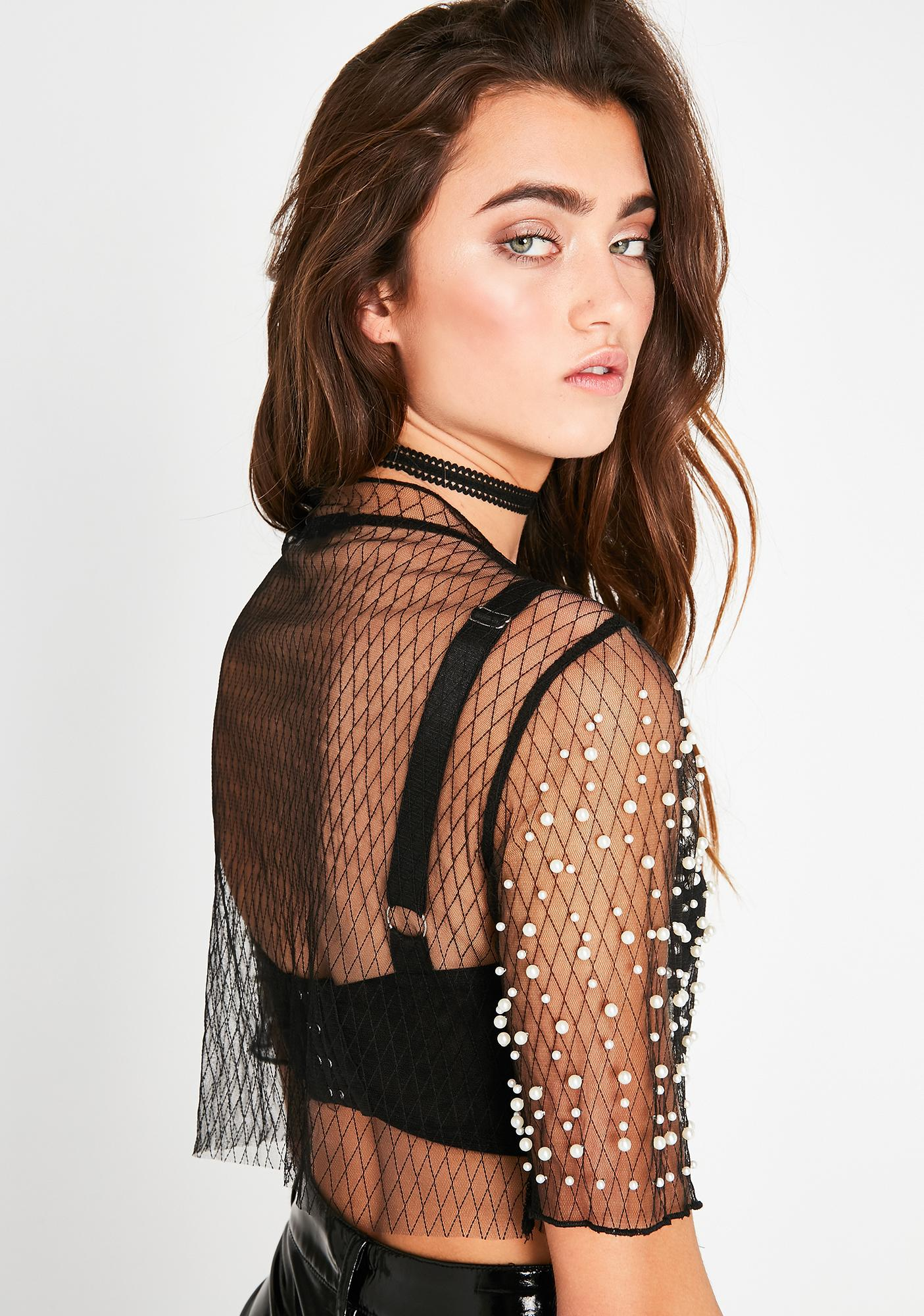 Hard To Please Sheer Top