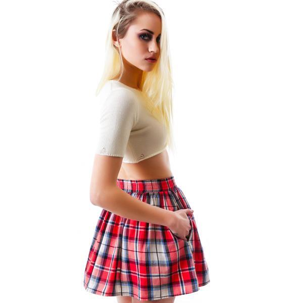 Preston Plaid Button Down Skirt