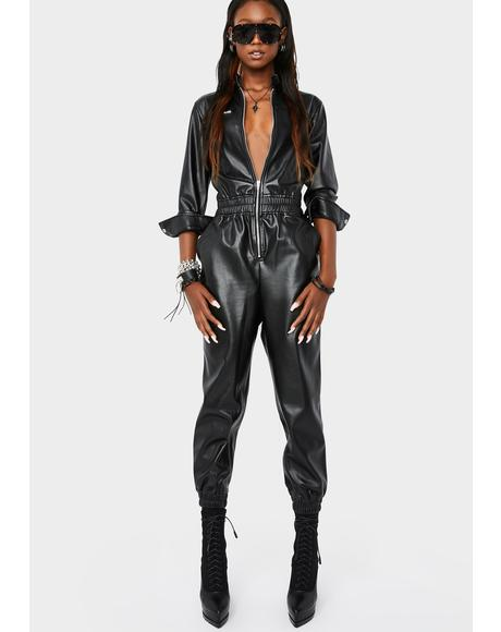 No Guidance Moto Jumpsuit