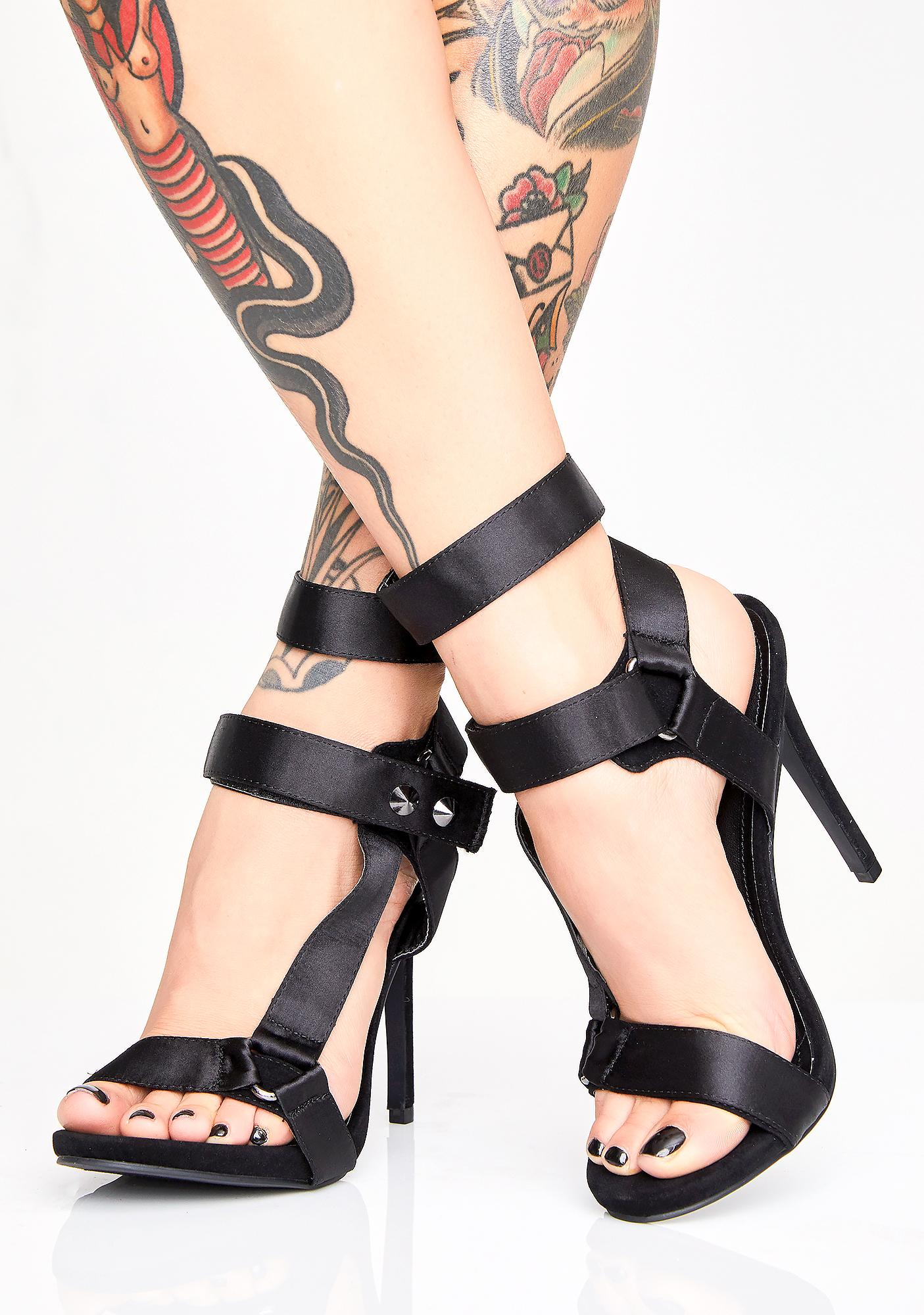 Long Run Double Strap Heels