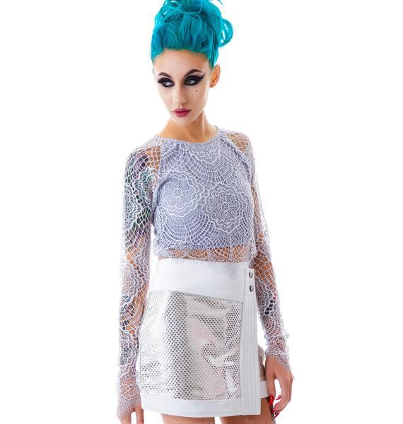 Triforce Metallic Skirt