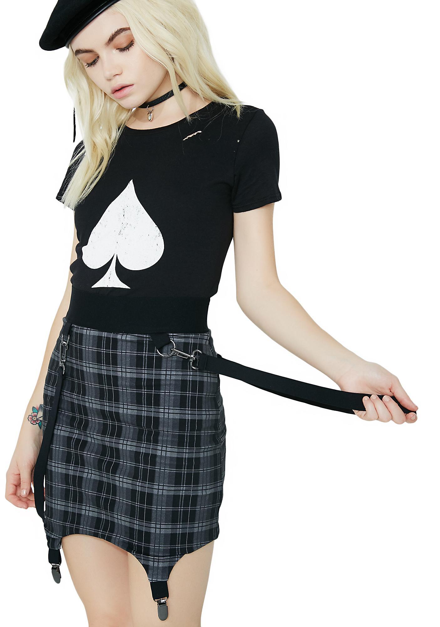 Killstar Raging Bondage Mini Skirt