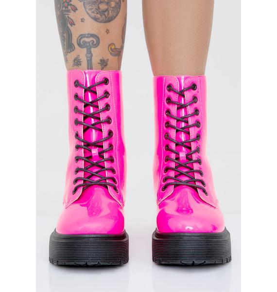Sweet Atomic Kick Combat Boots