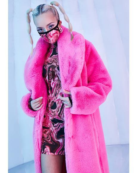 Neon Kitten Faux Fur Coat