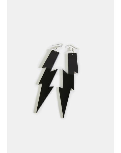 Feel The Electricity Lightning Bolt Earrings