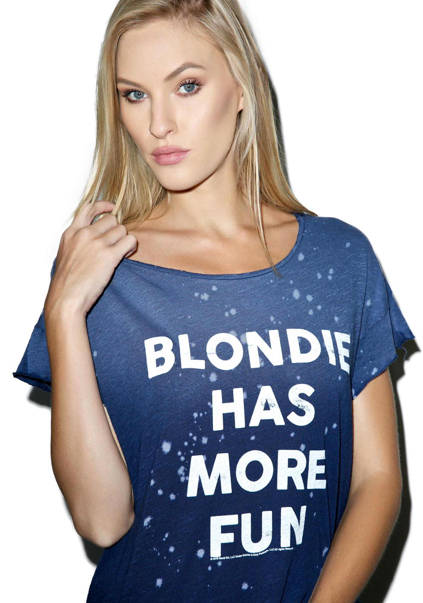 Junk Food Clothing Blondie Has More Fun Tee Dolls Kill