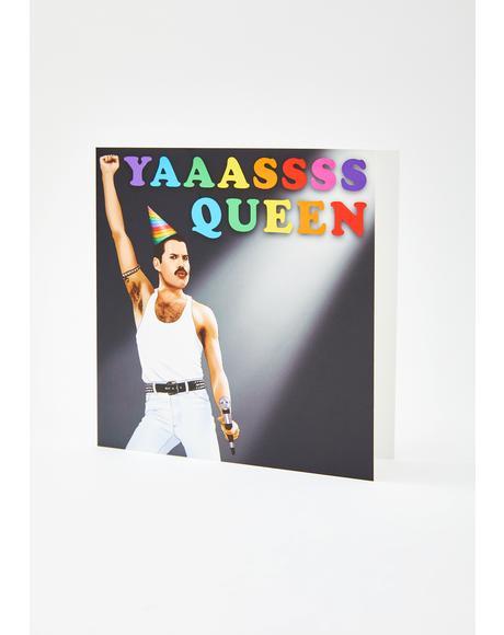 Freddie Yas Queen Birthday Card
