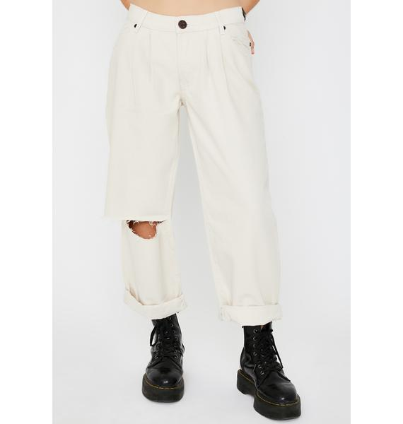 One Teaspoon Nashville Cream Smiths Low Waist Jeans