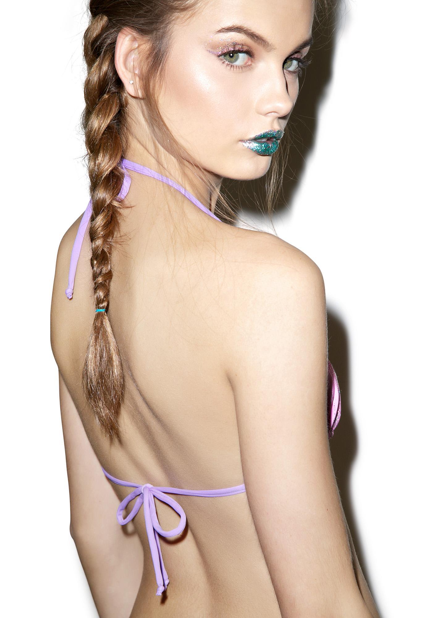 Margarita Mermaid Malibu Sunset Seashells Bikini Top