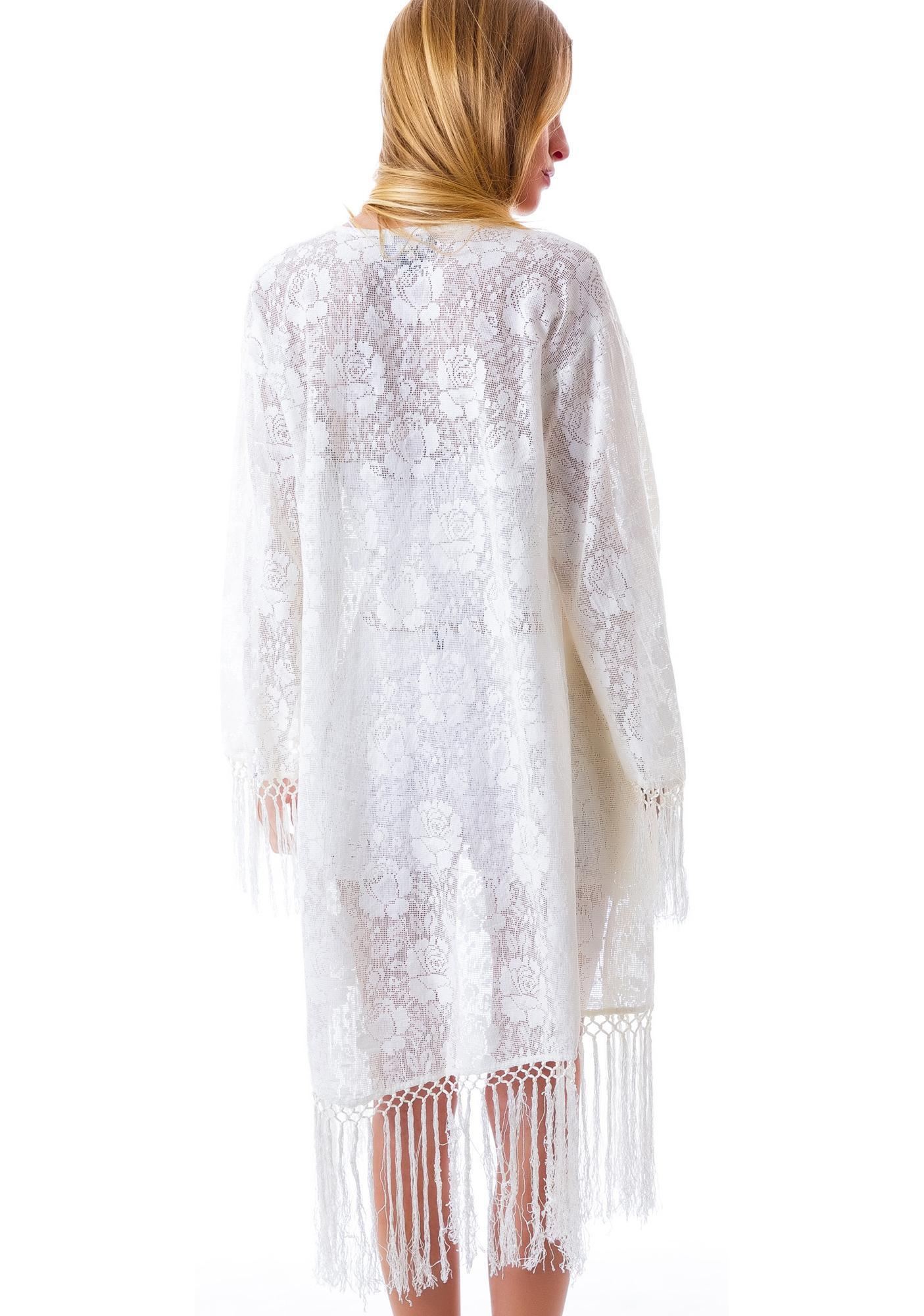 Mink Pink Summer Lace Kimono
