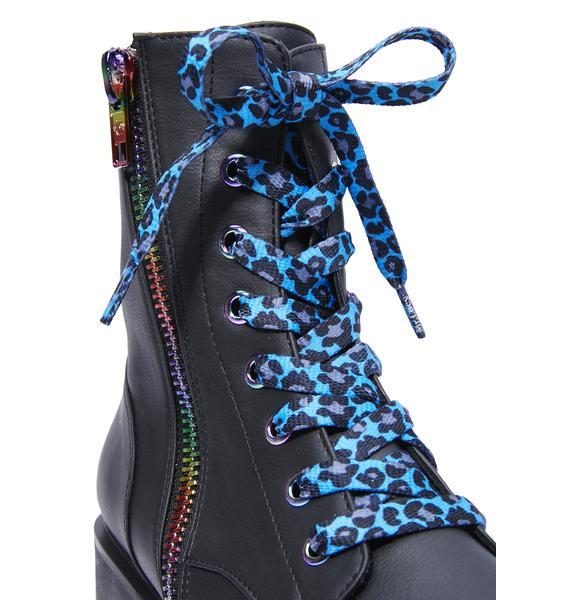 Mr. Lacy Wildin' Out Leopard Shoelaces