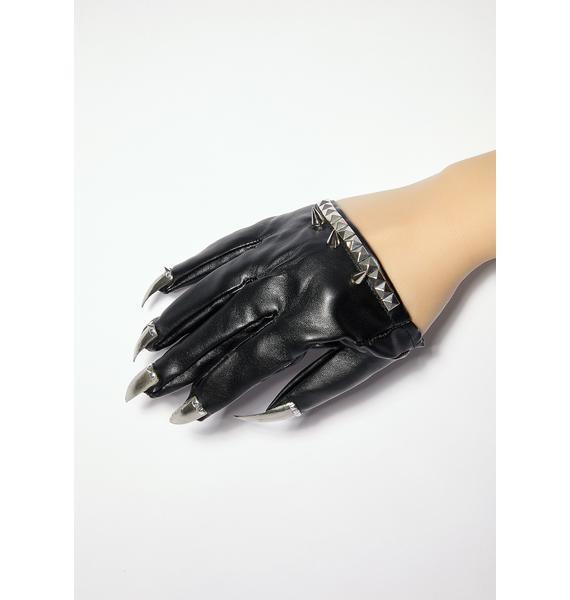 Unicorns Poop Glitter Spikes N' Studs Nail Gloves