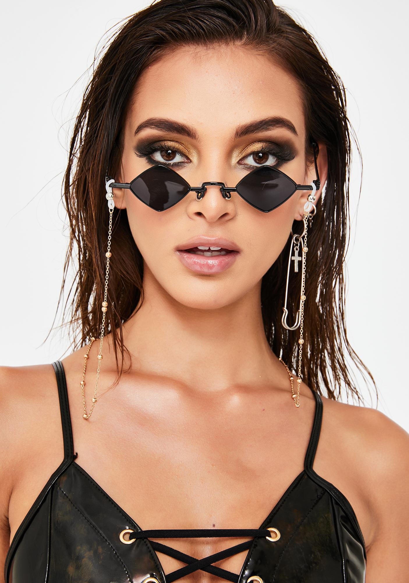 Dark Half Baked Tiny Chain Sunglasses
