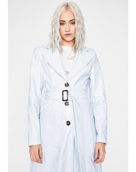 Sky Drama Addict Trench Coat