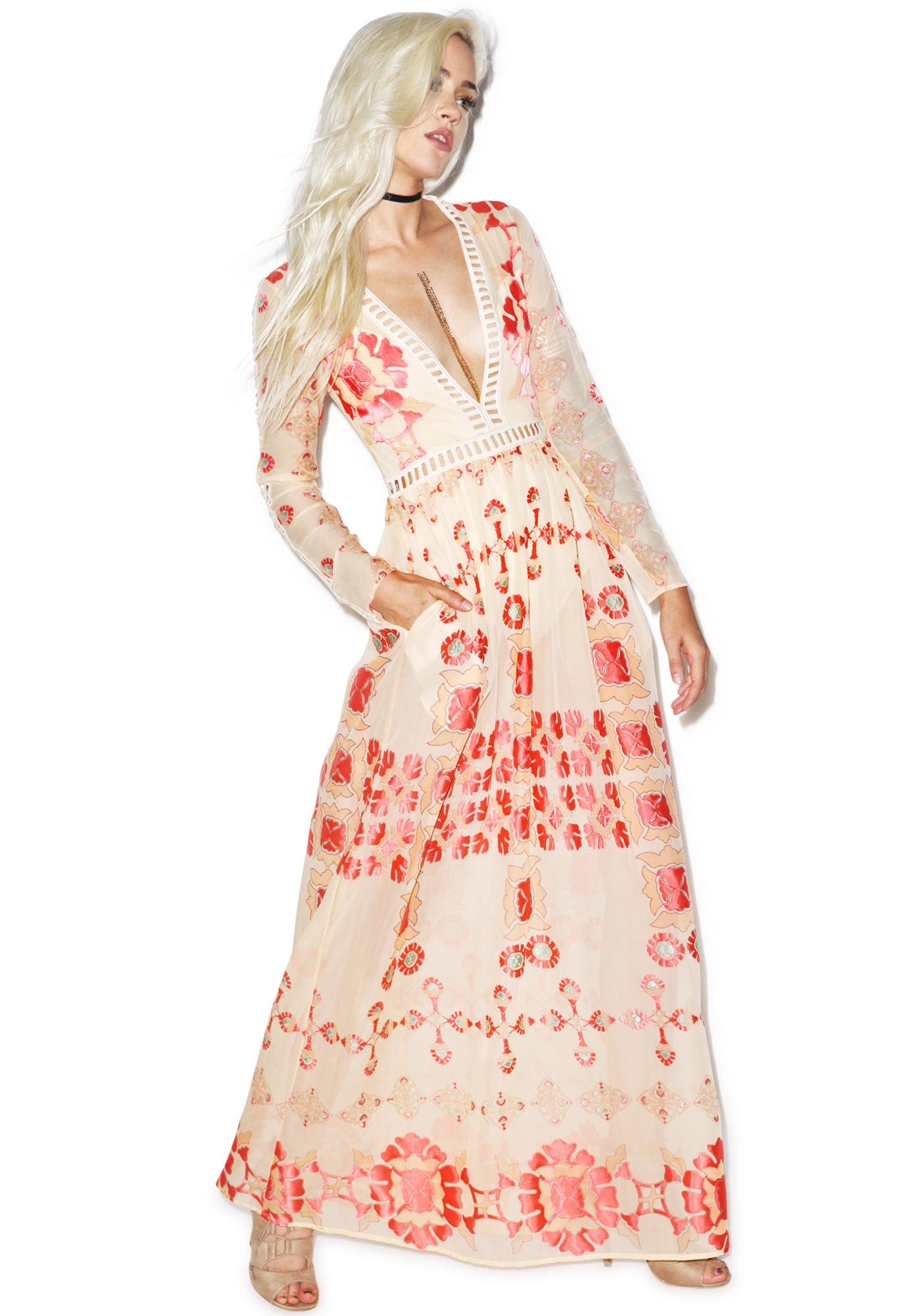 For Love & Lemons Barcelona Maxi Dress