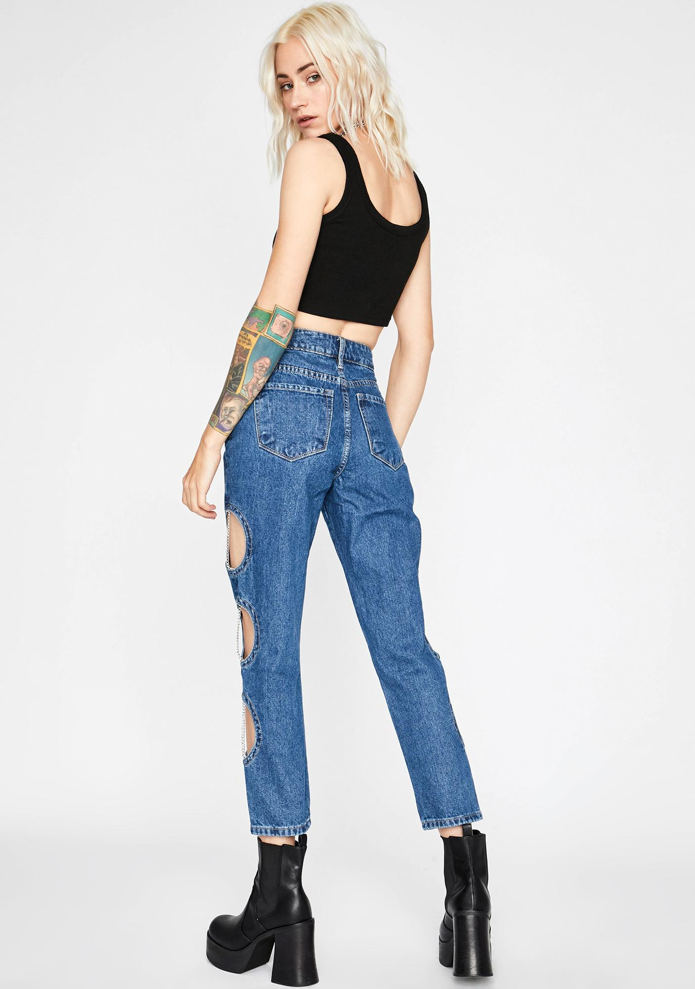 Not Too Naughty Cut-Out Jeans