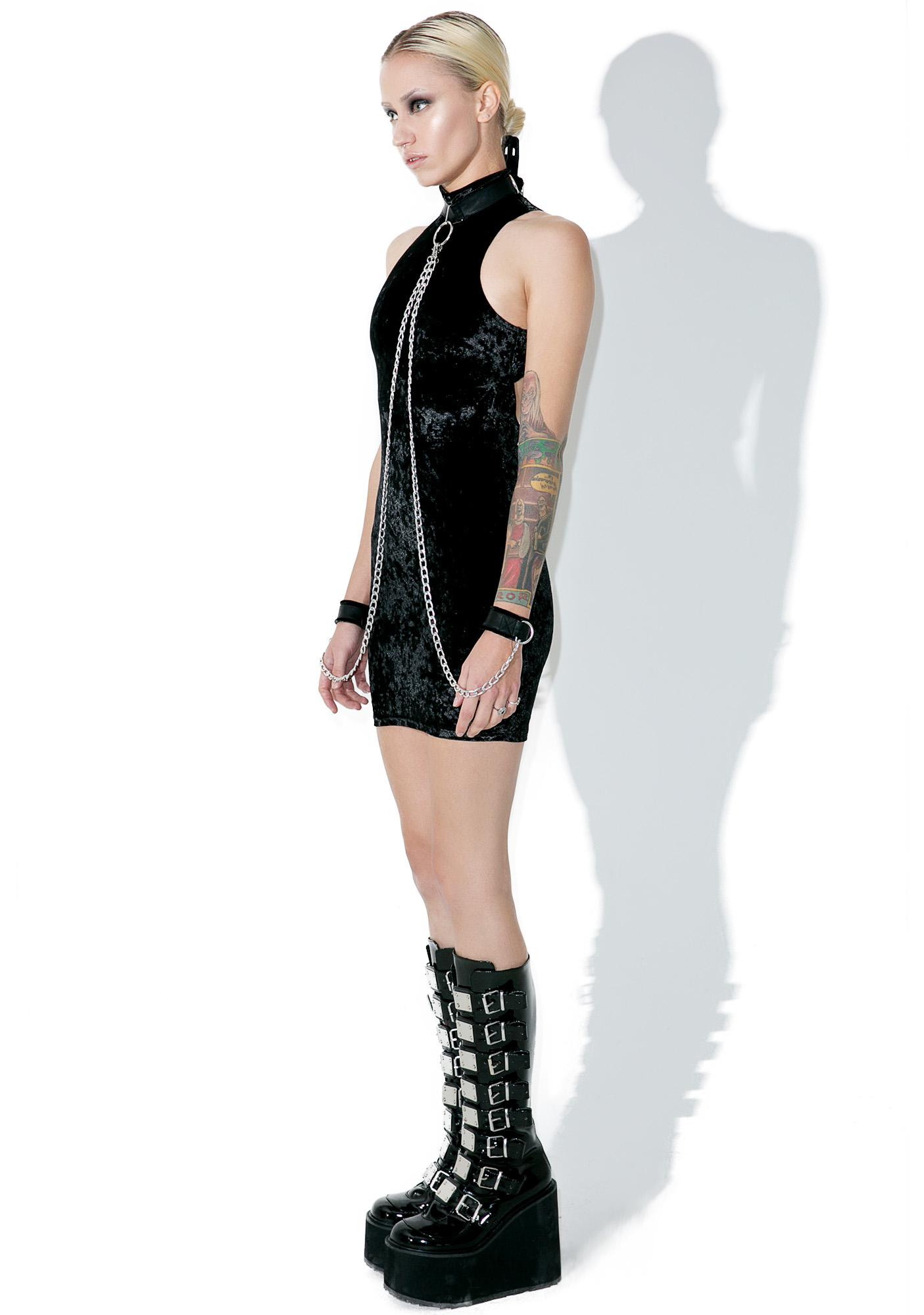 Current Mood Viper Bondage Mini Dress