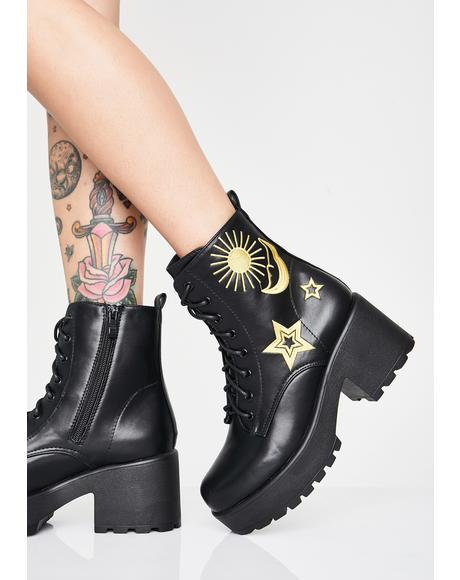 Astro Star N' Moon Chunky Boots