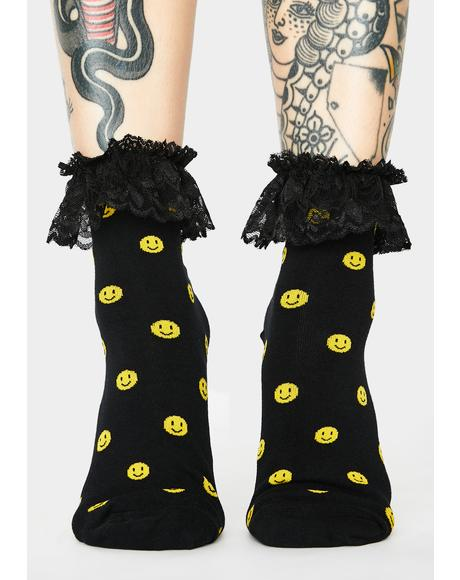 I'm Cheesin' Ruffle Socks