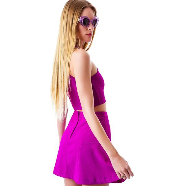 Mink Pink Get Ready Flippy Skirt