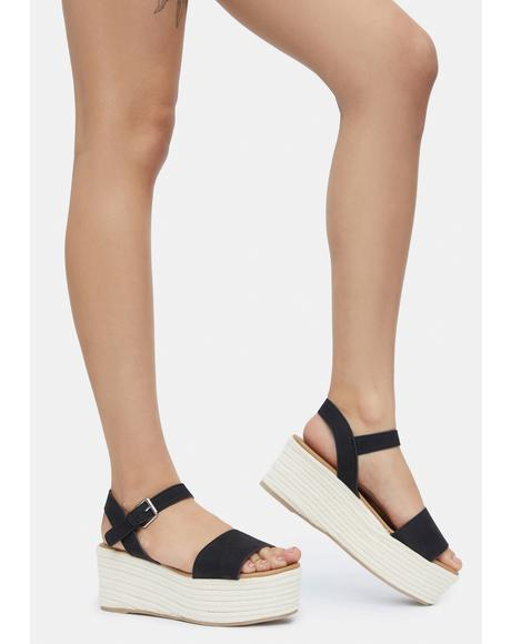Onyx Out With A Bang Platform Sandals