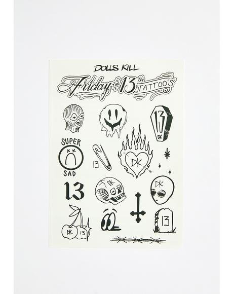 Friday The 13th Flash Tattoos