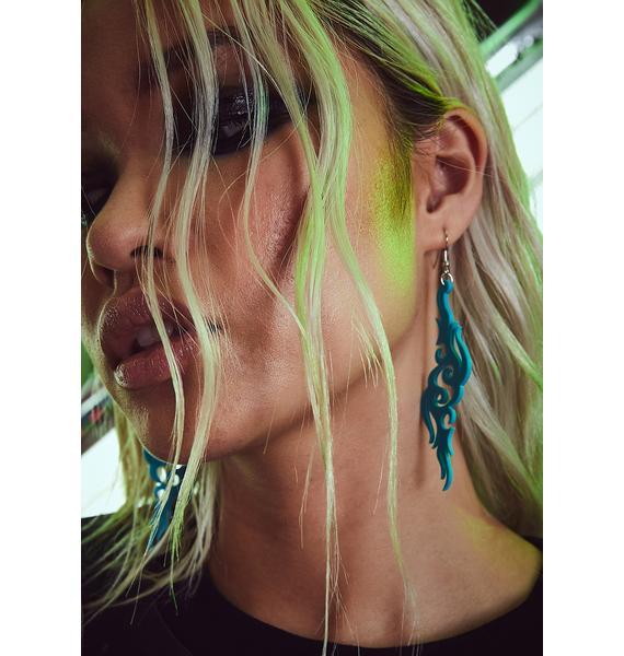 Cobalt Taste Of Toxins Drop Earrings