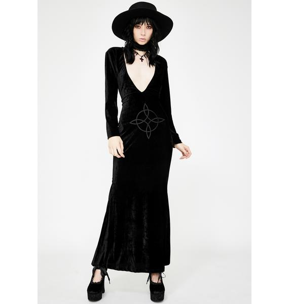 Necessary Evil Plunge Velvet Diana Dress