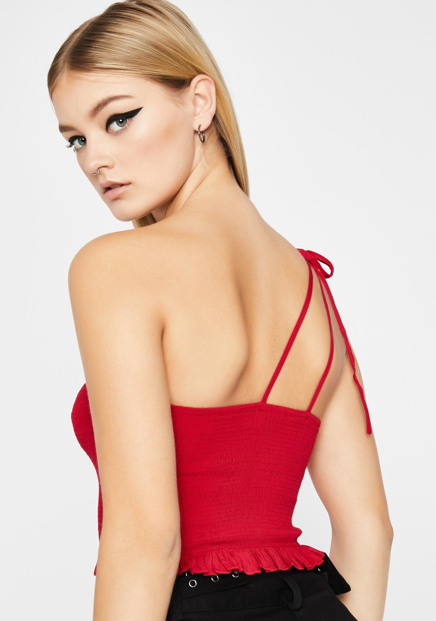 Hottie Basically Yours One Shoulder Tank