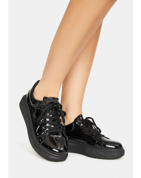 Night Tourist Trap Patent Sneakers
