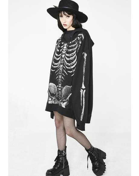 In Ya Bones Hoodie Dress