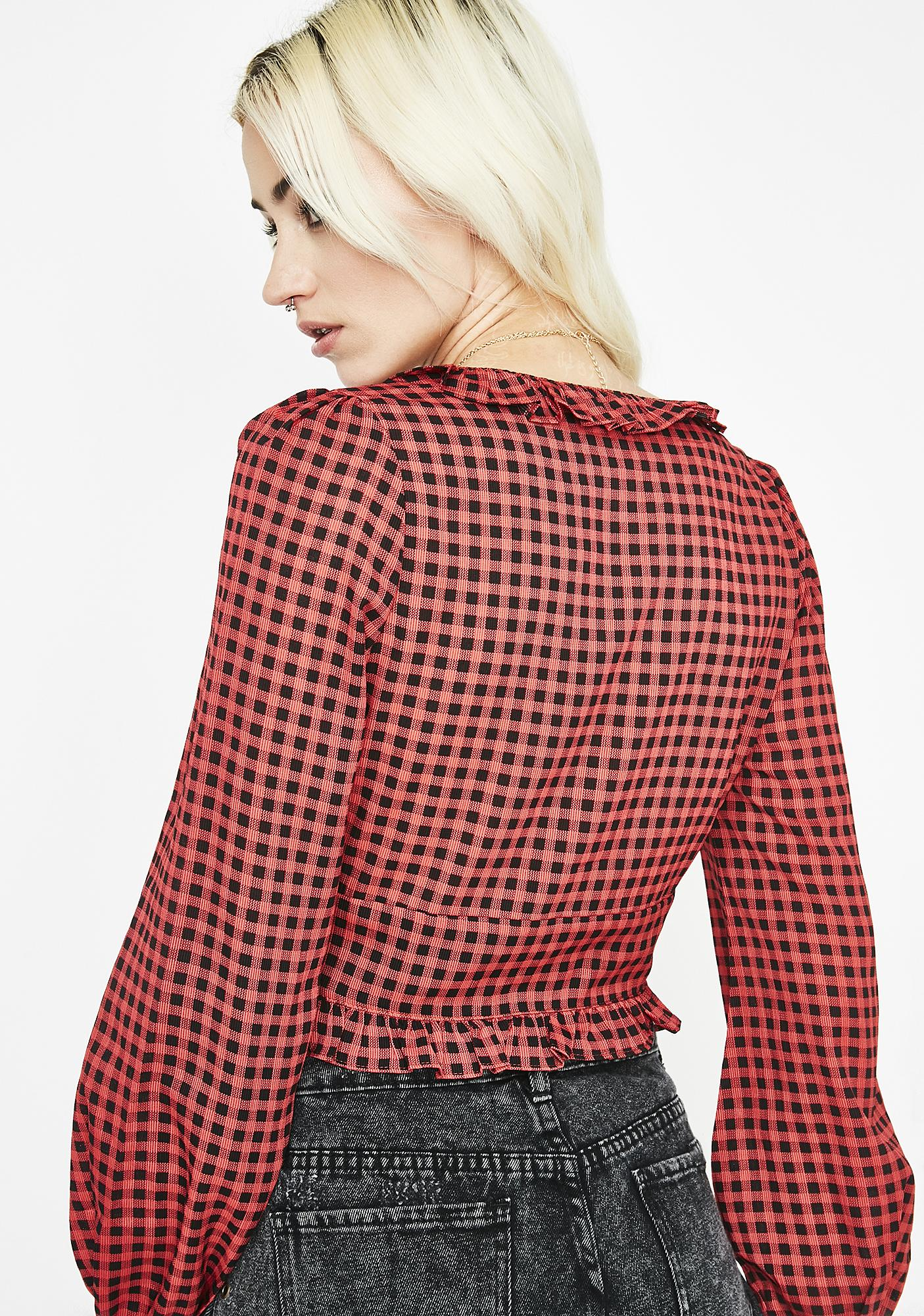 Secret N' Lies Gingham Top
