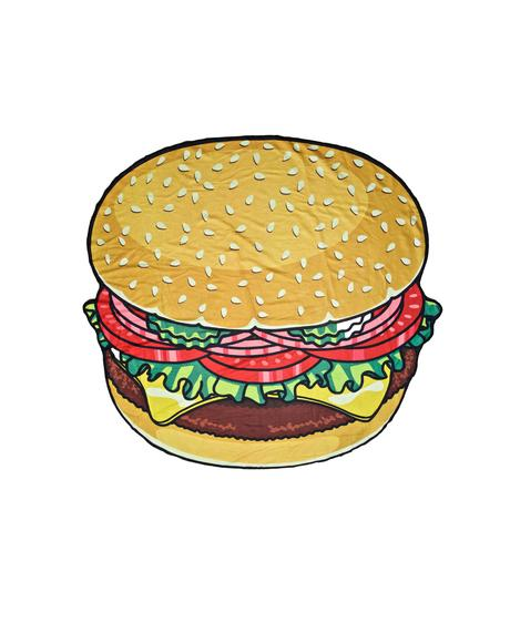 Burger Babe Beach Towel