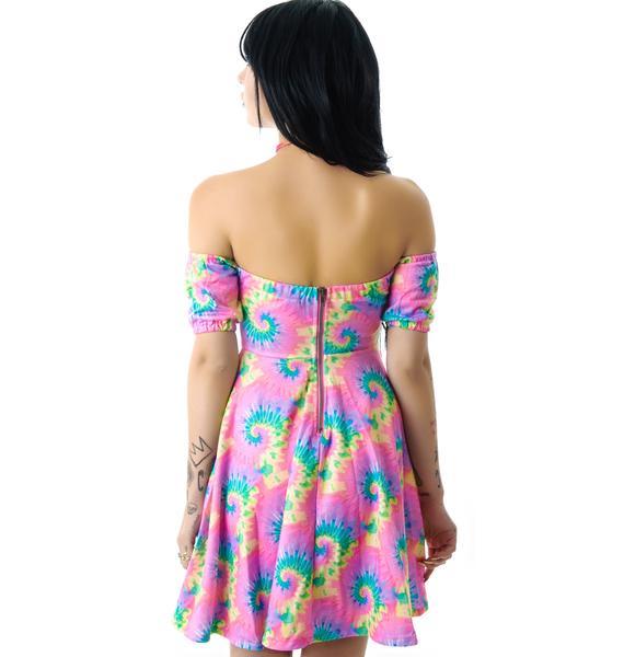 Tie Dye Empty Garden Dress
